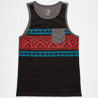 Blue Crown Sun Tribe Boys Tank Black  In Sizes
