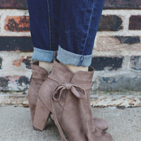 Last Call Booties - Taupe
