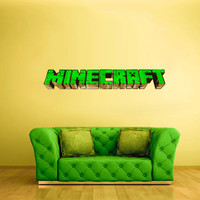 Full Color Wall Decal Vinyl Sticker Decor Art Bedroom Design Mural Like Paintings Minecraft Video Game Logo Sign Word (col447)