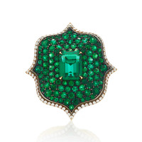 Emerald & Diamond Ring | Moda Operandi