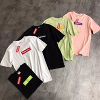 supreme box embroidery logo unisex lover s t shirt