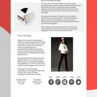 Blog Media Kit Template, Blogger Media Kit, Mediat Kit Template, Media Kit Form, Marketing Form - Powerpoint