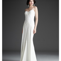 Mignon White Collection - Ivory Runched Wedding Dress