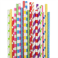 Rainbow Paper Straw Assortment