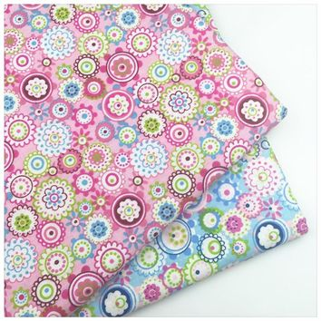 Floral Print 100% Cotton Twill Fabric By Meter For DIY Handmade Sewing Bedding Cloth Home Textile Material Telas to Patchwork