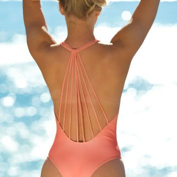 Elizabeth Jane Coral Plunge One Piece