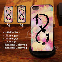 Beautiful Infinity Peter pan Design for iPhone 4, iPhone 4s, iPhone 5, Samsung Galaxy S3, Samsung Galaxy S4 Case