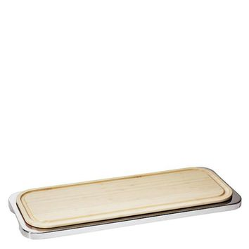 Linear Stainless Steel Rectangular tray with cutting board