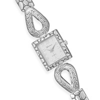 7in + 1in Silver Tone Toggle Fashion Watch