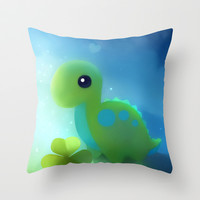 bronto dino Throw Pillow by Rihards Donskis