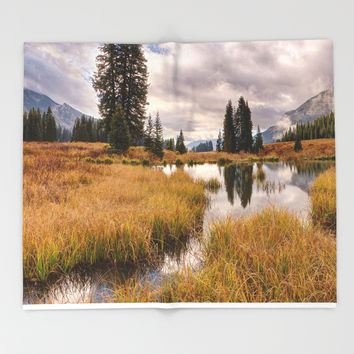 Colorado Fall Colors 3 Throw Blanket by Lena Owens/OLenaArt