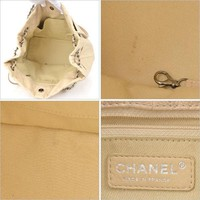 CHANEL Coco mark chain tote bag caviar skin beige Silver hardware Free Shipping