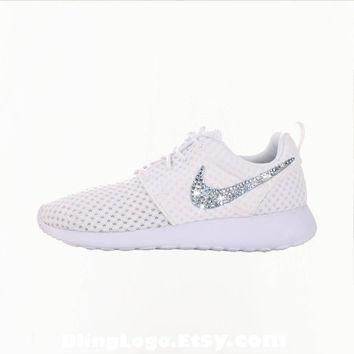 Nike Roshe Run With Swarovski Crysral Rhinestones - Bling Nikes, Bling Shoes, Bling ni