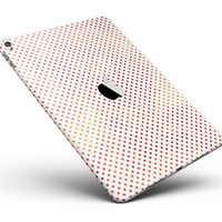"""Tiny Red-Orange Watercolor Polka Dots Full Body Skin for the iPad Pro (12.9"""" or 9.7"""" available)"""