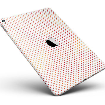 "Tiny Red-Orange Watercolor Polka Dots Full Body Skin for the iPad Pro (12.9"" or 9.7"" available)"