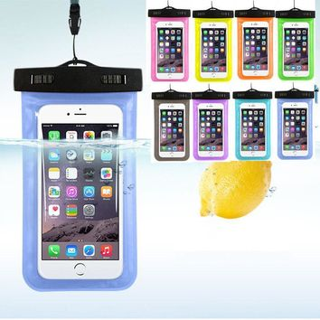 Case Cover for iPhone Transparent Waterproof Pouch Dry 7 Mobile