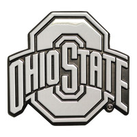 Ohio State Buckeyes NCAA Chrome Car Emblem (2.3in x 3.7in)