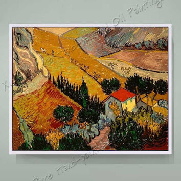 Hand Painted Canvas Oil Paintings Reproduction Van Gogh Landscape Oil Paintings Home Decoration For Living Room(No Frame)