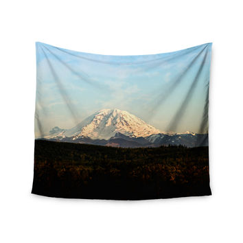 "Sylvia Cook ""Mt. Rainier"" Mountain Photo Wall Tapestry"