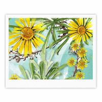 "Liz Perez ""Sunny Day"" Yellow Floral Fine Art Gallery Print"
