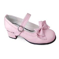 Pink Bow 45MM Heel Ankle-High Round-Toe Lolita Shoes