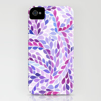 Hello Petal - Plum iPhone & iPod Case by Rebecca Newport of London