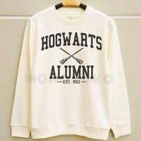 S M L -- Hogwarts Alumni Shirts Harry Potter Shirts Funny Sweatshirt Tee Jumpers Long Sleeve Shirts Sweater Unisex Women TShirts Men TShirts