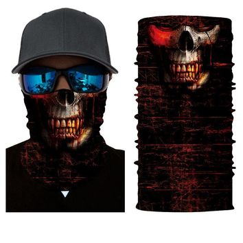 Face Shield Mask - Evil Blood Skull - Bandana Fishing / Hunting / Motorcycle