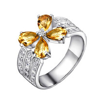 1.4ct Citrine silver ring