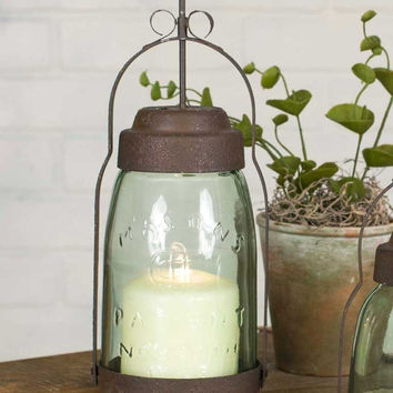 Mason Jar Butler Lantern from CrookedWood
