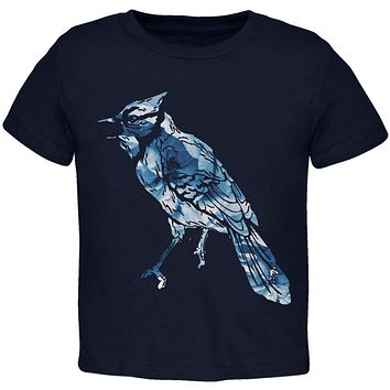 Spring Flowers Blue Jay Bird Toddler T Shirt
