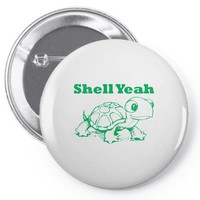 shell yeah turtle Pin-back button