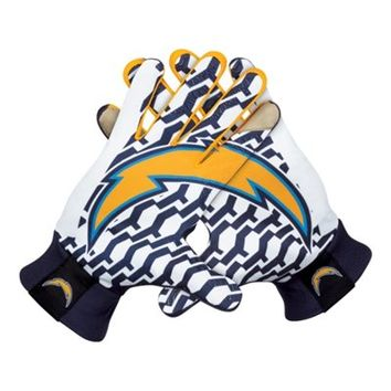 Nike San Diego Chargers Stadium Gloves - Navy Blue