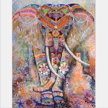 ICIKJG2 Beach towel Elephant Tapestry Colored Printed Decorative Mandala Tapestry Indian 130cmx150cm 153cmx203cm Boho Wall Carpet
