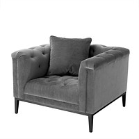Tufted Gray Accent Chair | Eichholtz Cesare