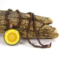 Solar Plexus Beaded Chakra Mandala Necklace by AnandaBijoux