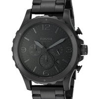 Fossil Men's JR1470 Nate Chronograph Black Stainless Steel Watch