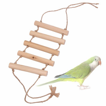 Small Parrot Rat Toy Bridge Ladder Hamster Bird Cage Accessories Toy For Bird's Supplies