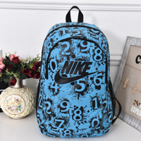 """Nike"" Sport Hiking Backpack College School Travel Bag Day pack number Blue"