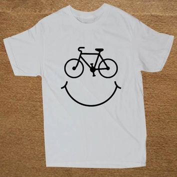 Bike Smiley Face T-Shirts - Men's Top Tee
