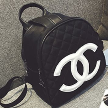 Chanel New Personality Backpack Fashion Lingge Casual Backpack