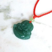 Beautiful Buddha Jade Stone Necklace Pendant