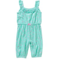 Garanimals Newborn Girl Smocked Top Romper - Walmart.com