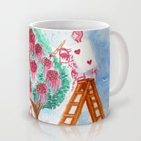Painting the Roses Red Mug by Susaleena