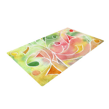 "Rosie Brown ""Gift Wrap"" Multicolor Pastel Woven Area Rug"