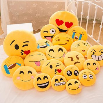1Pc 30CM Cute Emoji Cushion Home Smiley Face Pillow Stuffed Toy Soft Plush For Home Bedroom #253935