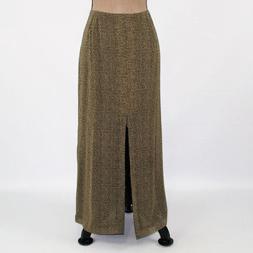 Silk Skirt Maxi Women Large Long Skirt Brown Print Skirt Chiffon Skirt Size 14 Skirt Silk Maxi Skirt Banana Republic Womens Clothing