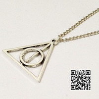 Deathly Hallows Necklace,Harry potter Necklace--Antique Silver Necklace----Best Chosen Gift