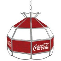 Coca-Cola Stained Glass 16-inch Tiffany Lamp | Overstock.com