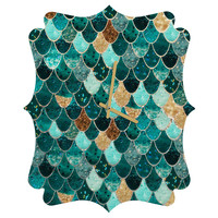 Monika Strigel Really Mermaid Quatrefoil Clock